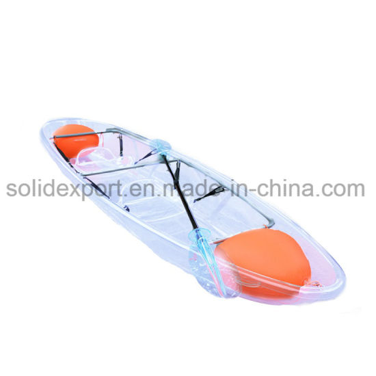 2018 New Design Factory Offer Transparent Kayak/Canoe/Fishing Boat with 2 Seats