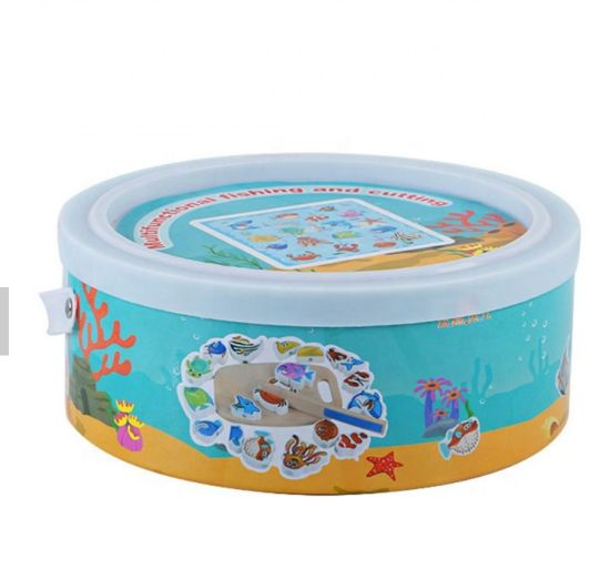 4 in 1 Multifunction Baby Educationalwooden Magnetic Fishing Game Toy