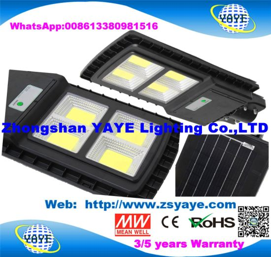 Yaye 18 High Quality Human Sensor / Motion Sensor COB 60W Outdoor Solar LED Street Light Lamps with 2/3/5 Years Warranty