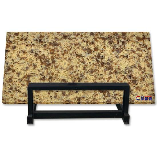 Wholesale Gold Sparkle Venus Countertop Beige Quartz Slab