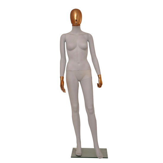 Full Body Female Mannequins Chrome Head Standing Display pictures & photos
