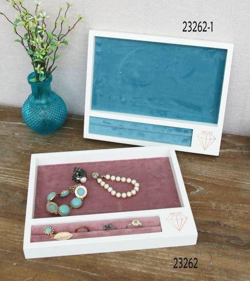 Wood Jewellery Box 25X20X2.5cm Jewelry Display Rack Market