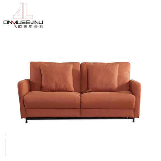 China Sofa Bed Recliner, Brown Material Sofa Bed