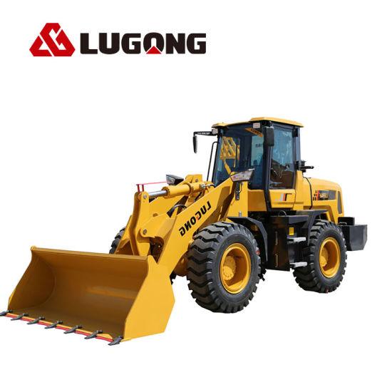 Small Lugong Wheel Loader Hydraulic Torque with Big Hub Reduction Gear 2.5ton Bucket 1.3cbm Used in Farm/Garden/Landscaping/Construction/Livestock
