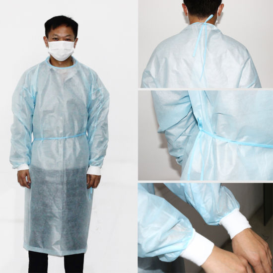 Surgical Gown Medical Waterproof Plastic SMS Non-Woven Fabric Disposable Protective Clothing