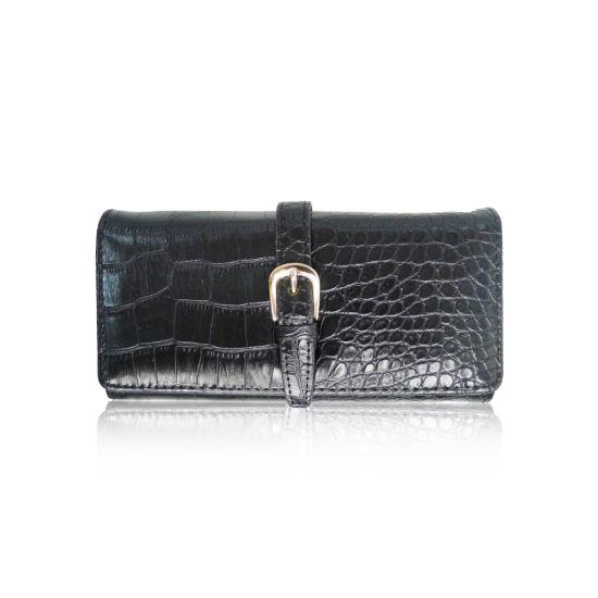 New Buckle Design Ladies Fashion Wallet Women Wholesale Leather Purse