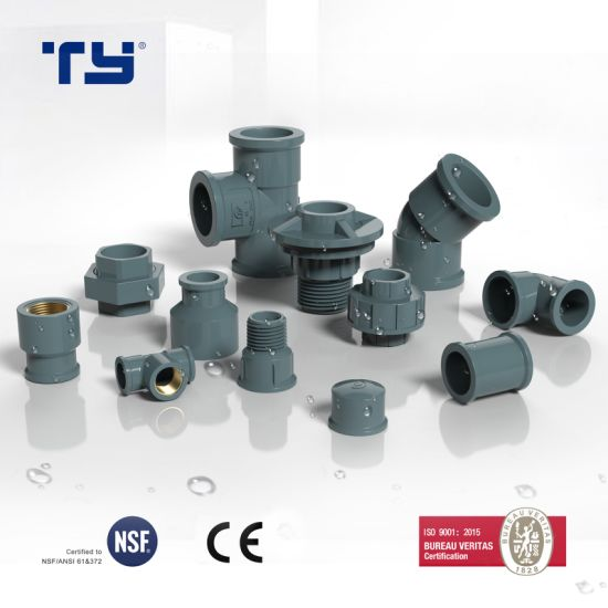 PVC (CPVC/ PPR /PP/ PPH) Plastic Welded Pressure Pipe Fitting NBR5648 Offer OEM