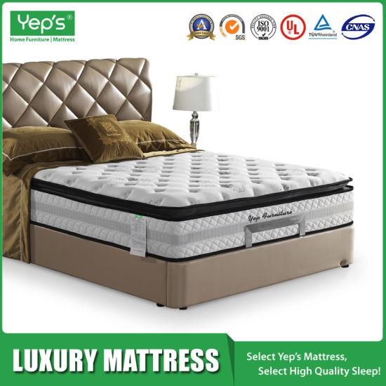 High End Plush Pillow Top Coolux Memory Foam Firm Mattress