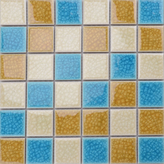 Canada Style Square Anti Microbial Colour Mixture Mosaic Bathroom Tiles