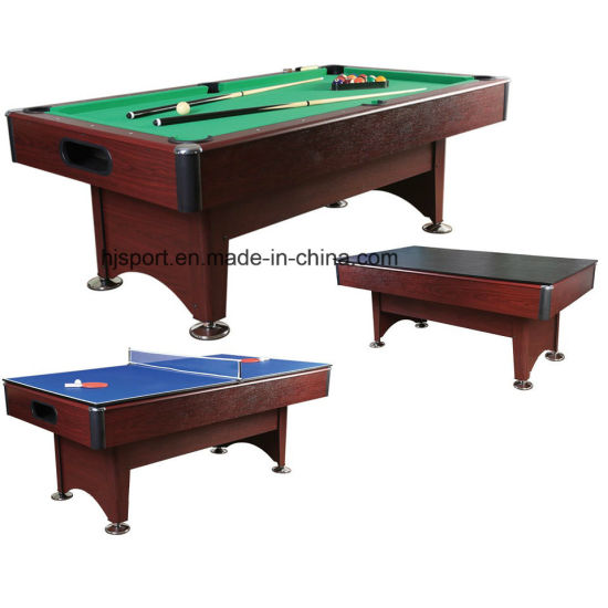 6ft 7ft 8ft 3 In 1 Multi Functions Dining Top Billiard Pool Table