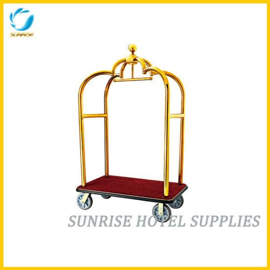 Hotel Crown Luggage Trolley Bellman Cart