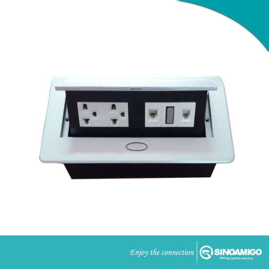 China Multifunctional Deaktop Socket For Conference Table Pop Up - Conference table electrical box