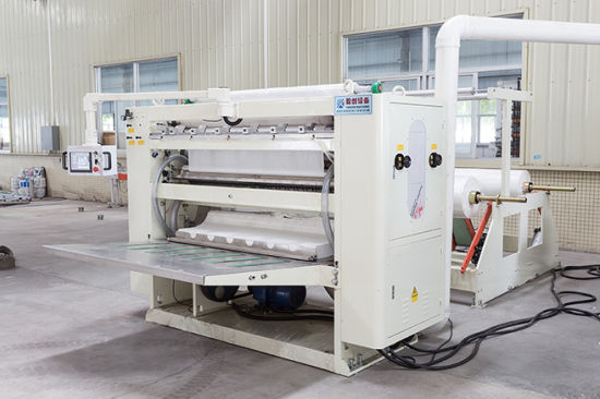 Facial Tissue Folding Machine with Embossing