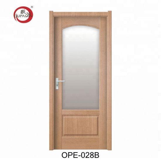 Latest Arrival High End Construction Interior Half Gl Wooden Door
