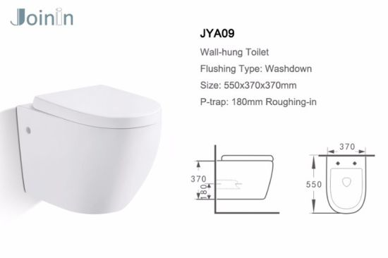 Sanitary Ware Bathroom Water Closet Ceramic Wc Wall Hung Toilet From Chaozhou (JYA09) pictures & photos