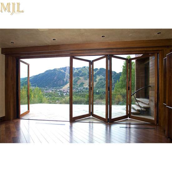 China Aluminum Tempered Glass Bifold Folding Exterior Doors for ...