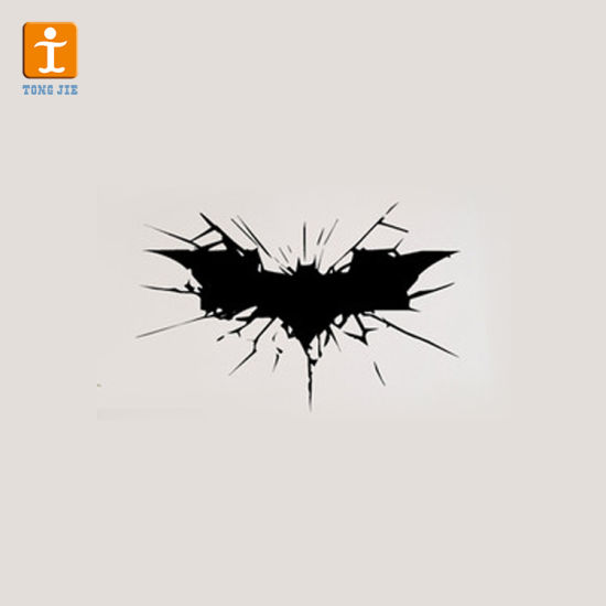 Clock Children Wall Sticker Superhero 3D Butterfly Car Glass Children Custom Bumper