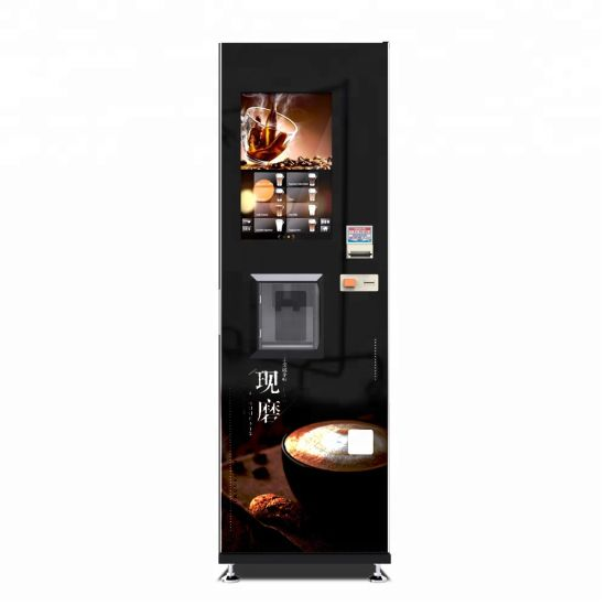 Automatic Coffee Bean Fresh Brew Vending with Paper Cup Dispenser