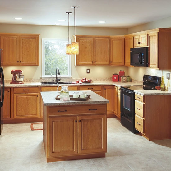 Classic And Versatile Style Raised Panel Door Design Kitchen Cabinet