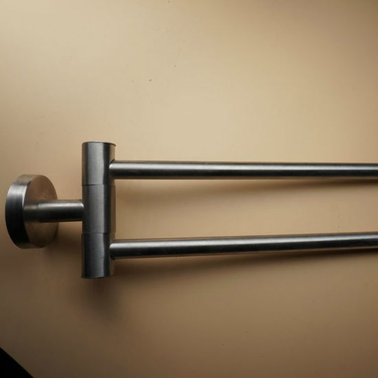 China Wall Mounted 304 Stainless Steel Swivel Towel Bar China