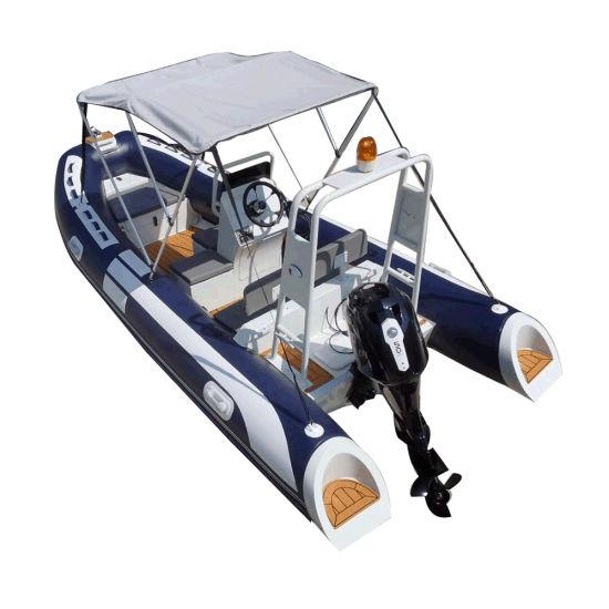 Deep Keel Aluminum Semi Rigid Inflatable 16 FT Hypalon Boat