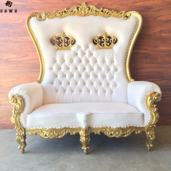 High Back Double Seater Wedding Used Chair For Bride And Groom