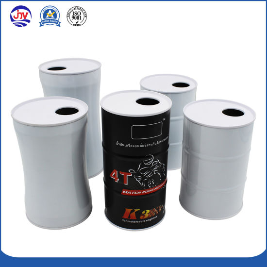 1 Liter Motor Gasoline Engine Oil Tin Can Boxes with Snap-off Cap