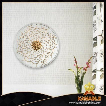 Classic Round Shape Brass Flower Wall Light (KAW18-096)