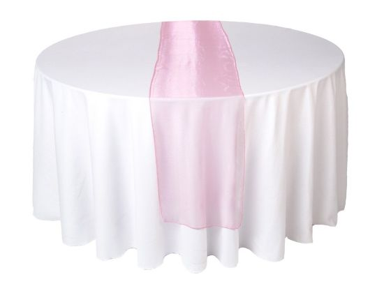 Pink Organza Table Runner for Decoration pictures & photos