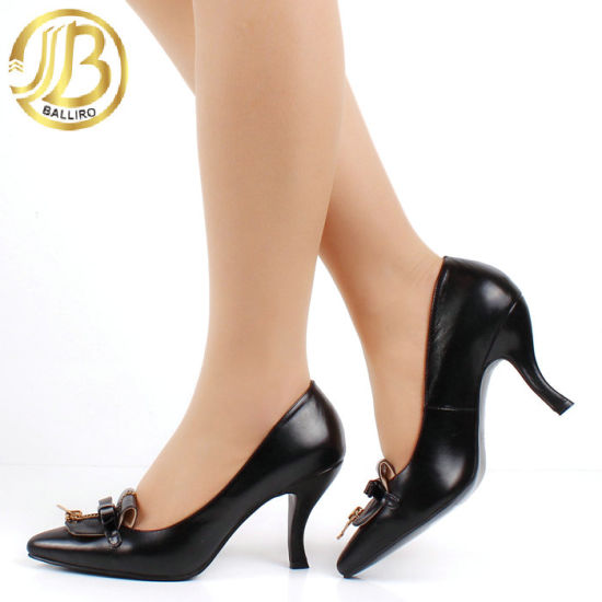 Fashion High Heel Dress Shoes with Butterfly Knot (YXGW07)