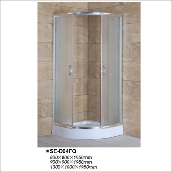 China Sliding Open Door Wove Glass Shower Enclosure with Sector Tray ...