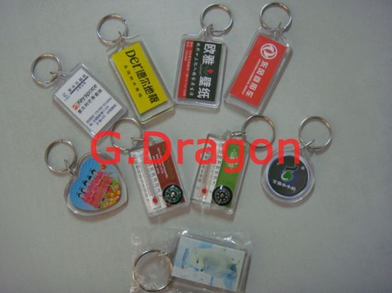 Customized Beautiful Key Rings with Any Logo pictures & photos
