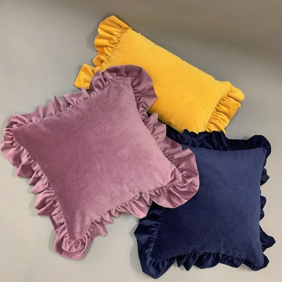 Lacy Velvet Sofa Cushions / Color Pillows Home Decorative Cushions