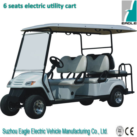 Electric Six Seats Golf Cart Including Two Flip-Flop Seats pictures & photos