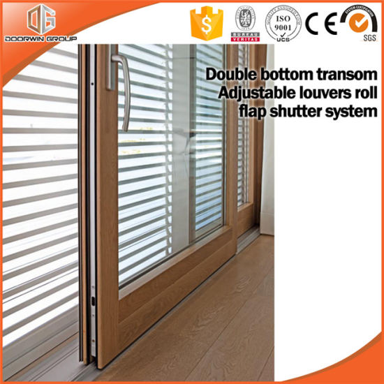 Sliding Door with Fixed Sash Pictures, America Style Aluminum Clading Solid Wood Lift Sliding Door China Supplier pictures & photos