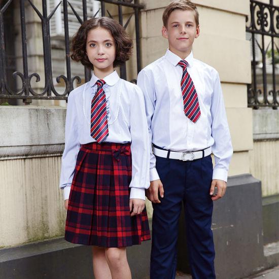 Wholesale White Cotton School Shirt Uniform for Students