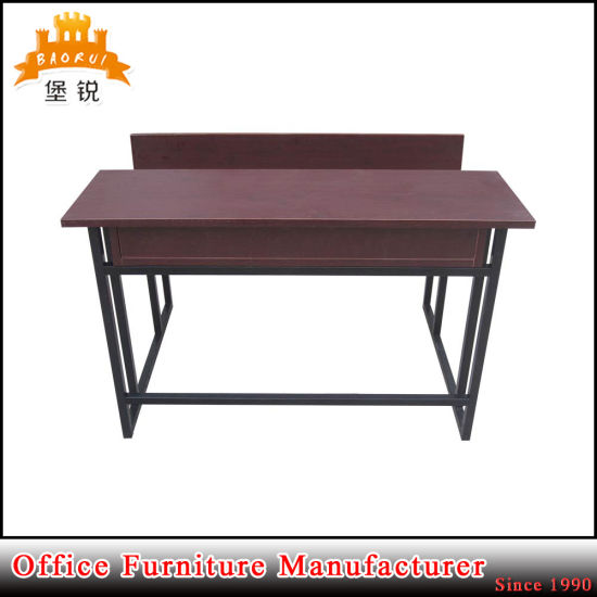 Popular Metal School Furniture Double Desk and Chair pictures & photos