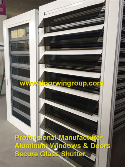 China Supply Glass Louver Window, Aluminum Secure Glass Louver Window with Handles, Cheap Lover Window