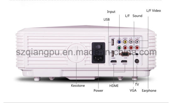 1080P 2000lumens LED Video Projector with HDMI USB (SV-226) pictures & photos