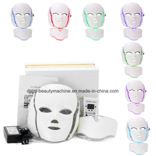 7 Colors PDT Photon LED Facial Mask Skin Rejuvenation Wrinkle Removal Electric Anti-Aging Beauty Equipment pictures & photos