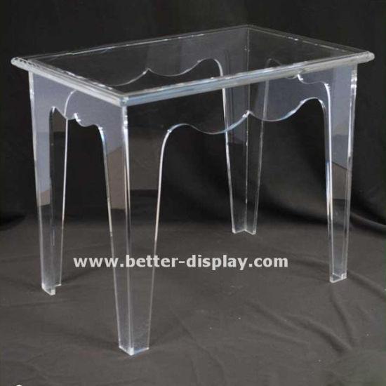 Custom Clear Acrylic Table