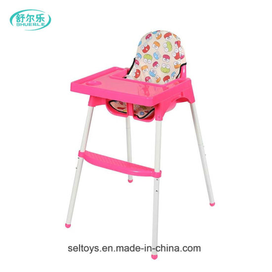 China Plastic Adjule Baby Dinner Feeding High Chair