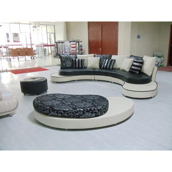 Wondrous Latest Round Sofa Design Black And White Leather Sofa 8023 Dailytribune Chair Design For Home Dailytribuneorg