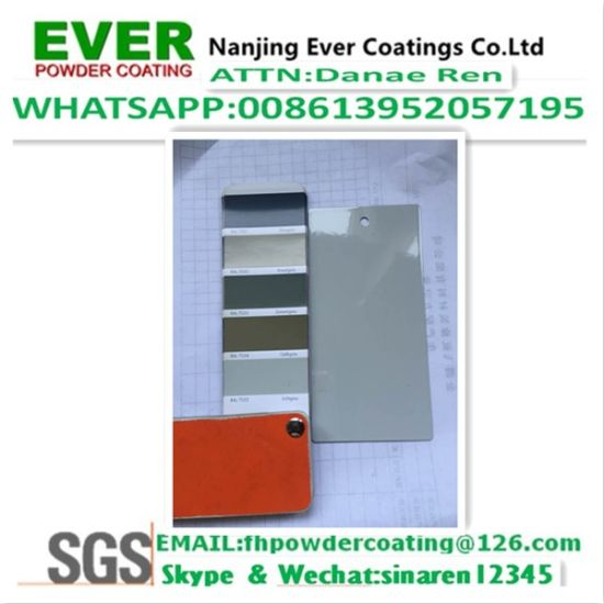 Ral7035 Grey Color Smooth Glossy Corona Powder Coating Paint pictures & photos
