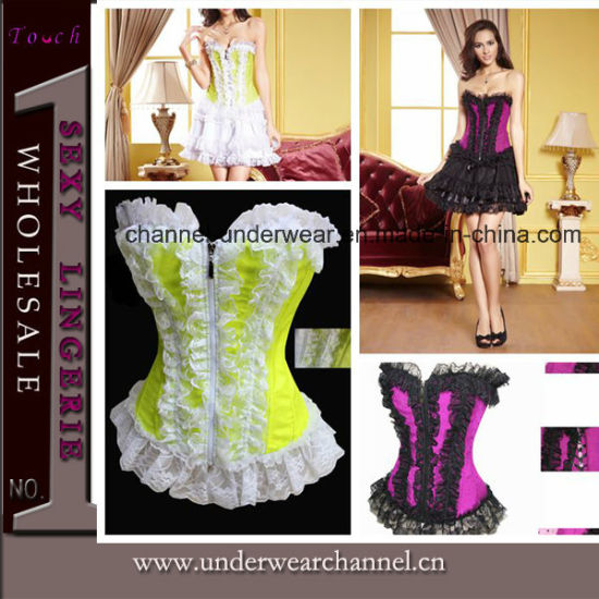 Hot Sale Women Satin Corset (TWK1510) pictures & photos