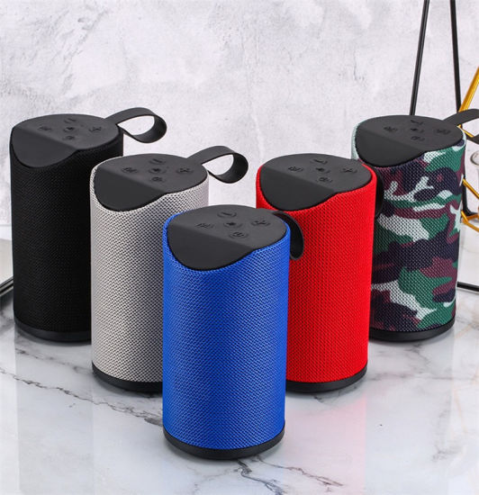 2021 Fabric Bluetooth Speaker with Au, TF and Microphone