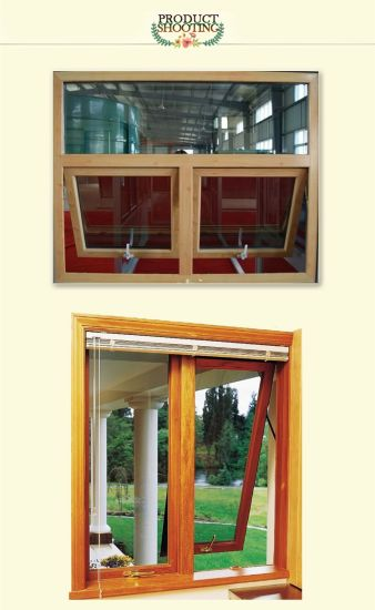 High Quality Standard European Style Solid Oak/Teak Wood Clad Aluminum Awning Window for Residential Building pictures & photos