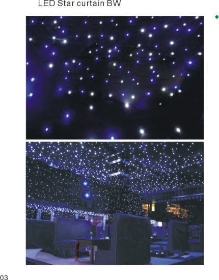 Disco LED Star White Curtain for Wedding Stage pictures & photos