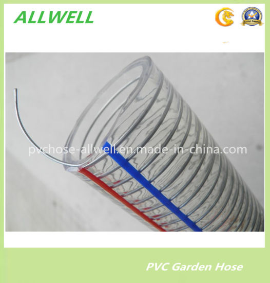 "PVC Steel Wire Reinforced Thunder Pipe Hose 1"" 2"" pictures & photos"