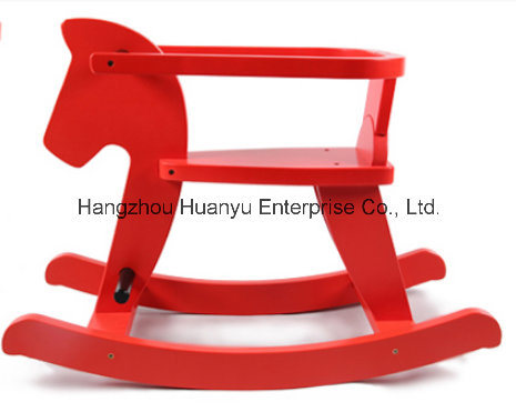 Factory Supply Rocking Horse Wooden Horse Rocker with Safeguard